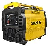 Stanley Stromgenerator Benzin leise, inverter, 1000 Watt, 6.5 Stunden Laufzeit, Ölmangelsicherung, Eco-Betrieb, tragbar, für Camping und Garage