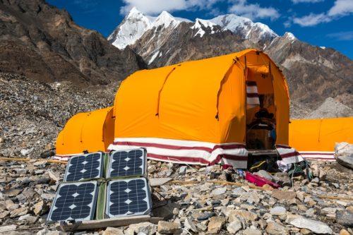 Solarpannel beim Zelten