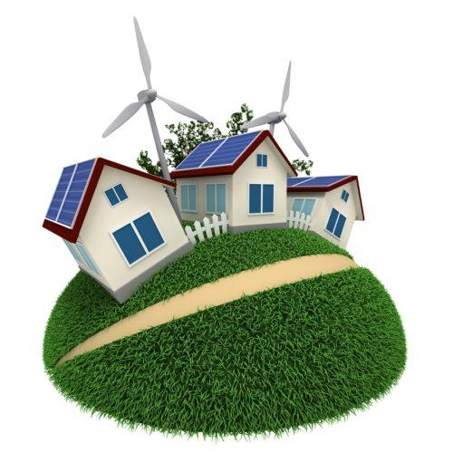 Windkraftanlage im Garten