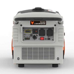 FUXTEC Inverter FX-IG13 Wechselrichter Benzin Stromerzeuger - Bild hinten mit Panel