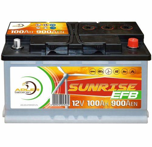 Solarbatterie 12V 100Ah Adler Batterie Wohnmobil Boot Camping