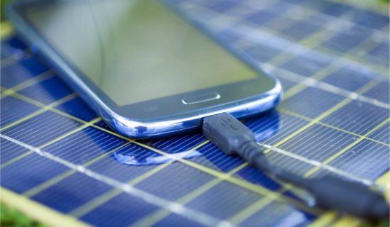Solar-Ladegerät für das Smartphone
